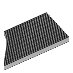 corrugated anti-static mat